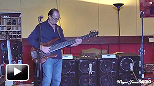 Wayne Jones demonstrates 2000 Watts with 2 WJ 2x10 Powered Bass Cabinets - Wayne Jones AUDIO