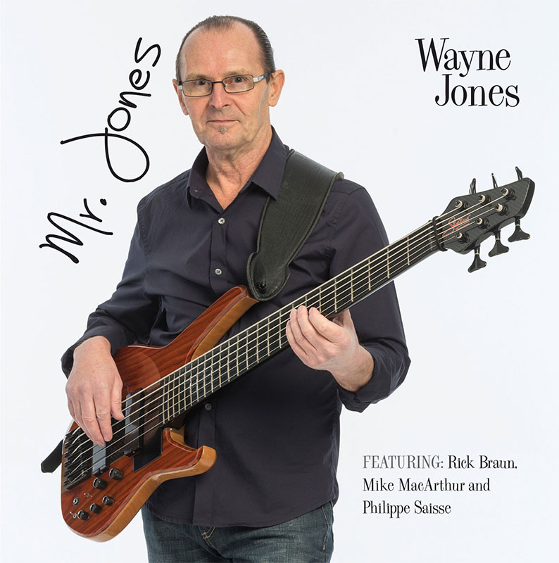 Wayne Jones AUDIO & bass player - Mr. Jones CD cover - CD available from https://www.wayne-jones.com/bass-guitar