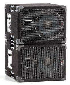 Wayne Jones Audio - 1000 Watt (500watts perside) 1x10 Powered Stereo/Mono Guitar Speaker Cabinets. Guitar amplification.