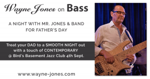A Night with Mr. Jones & band For Father's Day @ Bird's Basement jazz club, Melbourne 4th September