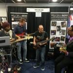 Andre Berry, Wayne Jones and Nate Phillips. NAMM 2016 Wayne Jones AUDIO booth.
