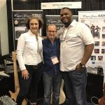 """Garrett Body, Wayne Jones AUDIO endorsee, dropped by for a booth performance, bringing along singer Ashling """"Biscuit"""" Cole to perform Garrett Body's new single """"Better Days"""""""