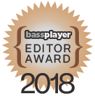 Bass Player Magazine Editor Award for Wayne Jones AUDIO bass guitar rigs 2018