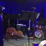 Bassist Carlo De Rosa upright bass & Wayne Jones AUDIO bass rigs used at Afro Cuban Orchestra gig at Bird's Basement jazz club in Melbourne