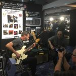 Chris Bekker and Simon Hosford - Wayne Jones AUDIO stand, Melbourne Guitar Show 2016