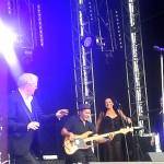 Craig Newman using a Wayne Jones AUDIO WJ 2000 Watt 4×10 rig for the John Farnham shows during the One Electric Day concert tour last year. Werribiee Park Nov 29 2015