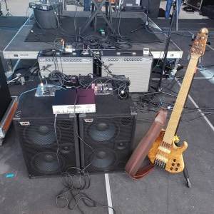 David Dyson's bass guitar rig for Seabreeze Jazz Festival 2019
