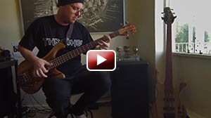 Drew Dedman Jazz Bass Improvised Solo, Brock custom basses