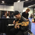 Fodera Monach 5 Deluxe bass guitar through a Wayne Jones Audio rig @ NAMM 2016