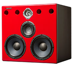 Jones-Scanlon Big Reds studio monitors - recording engineering, audio and film post production, sound track mastering, audio mixing, sound mixing, recording studio gear. Far field monitoring systems.