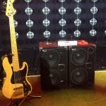 Joseph Fernand and his 2000 Watt WJ Bass rig. Bjorn Again shows at The Palms, Crown Casino Melbourne.