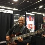 Bass player & Wayne Jones Audio endorsee Mark Peterson @ NAMM 2016