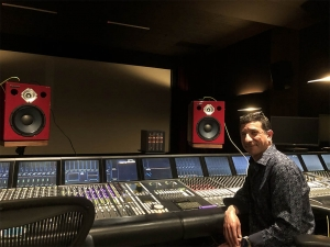 Michael Novitch, Chief Engineer at Technicolor, previewing the Jones-Scanlon Studio Monitors in house at Paramount Pictures.