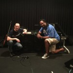 Wayne Jones with Wayne Jones AUDIO endorsee, bass player Nate Phillips @ SIR Studios in LA