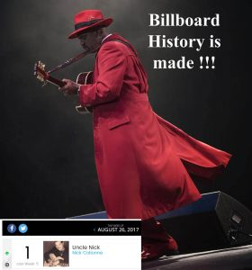 "History was made this week on the US Billboard Chart, Nick Colionne from Trippin 'n Rhythm is the only artist in the history of the format to have 4 consecutive #1's on the Billboard chart from one album,The latest single ''Uncle Nick'' from the album ""The Journey"" amazingly went #1 this week on the Billboard chart, this puts Nick firmly in the Billboard record books'' legend'' !!!"