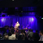 Ravi Coltrane at the opening of Bird's Basement jazz club in Melbourne. Bassist Dezron Douglas is using the in house WJ 1000 Watt powered stereo system for his upright.