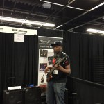 Shelly, Boys To Men @ Wayne Jones AUDIO NAMM booth for bass guitar powered speaker cabinets
