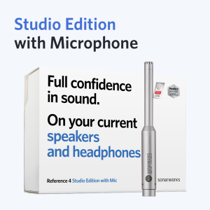 Sonarworks SoundID Reference Studio Edition with Mic packaged with Jones-Scanlon Recording Studio Monitors