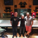Steve Scanlon, Wayne Jones and Jeff Barnes at Record Plant Recording Studios