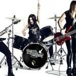 Australian powerhouse rock trio, Tequila Mockingbyrd with Wayne Jones AUDIO endorsee Jess Riley