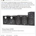Tim George, bass player, endorsement of Wayne Jones AUDIO bass guitar speaker cabinets & stereo valve bass pre-amp.