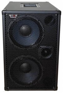 Wayne Jones Audio - 1000 Watt 2x10 Powered Bass Cabinet - bass guitar speakers