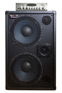 WJ 2x10 powered 1000 watt bass guitar cabinet with WJBP pre-amp
