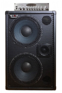 WJ 2x10 powered 1000 watt bass guitar cabinet with WJBP Pre-Amp DI