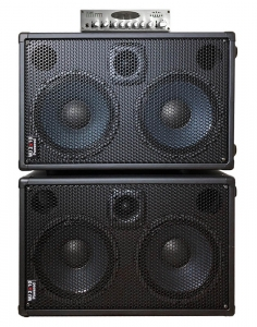 WJ 2x10 powered 1000 watt bass guitar cabinets with WJBP pre-amp