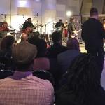 Sekou Bunch playing through a Wayne Jones Audio bass guitar speaker rig for a TV show