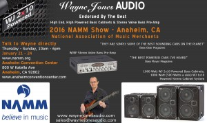Hi Powered, Hi End Bass Cabinets, Hi Fi Studio Monitors & Stereo Valve Bass Pre-Amp sales@waynejonesaudio.com
