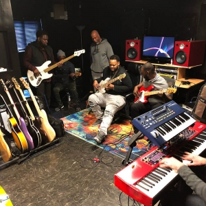 GBody Sound Lab set up for Wayne Jones Audio & Marco Bass Guitars product presentation