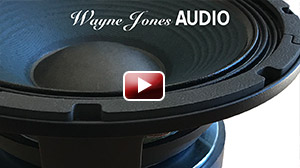 """The custom 10"""" drivers in the Wayne Jones AUDIO powered bass cabinets are hand made with passion & pride, exclusively for Wayne Jones AUDIO"""