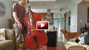 Upright bass with Wayne Jones Audio rig review: WJ 2×10 1000 Watt Powered Cab & WJBPII Twin Channel Bass Pre-Amp