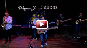 Wayne Jones and band live performance with the new twin DI WJBA 2k Bass Head & Passive Cabinets