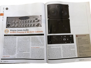 Bass Player Magazine, January 2018 review of Wayne Jones Audio Rigs