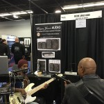 Bass guitar player session @ Wayne Jones Audio NAMM 2016 booth