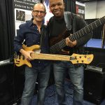 Bass players Wayne Jones and Mark Peterson at NAMM 2016