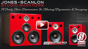 Using the full range of Jones-Scanlon Studio Monitors  Steve Scanlon demonstrates what he listens for in a mix, with artist and producer Wayne Jones.