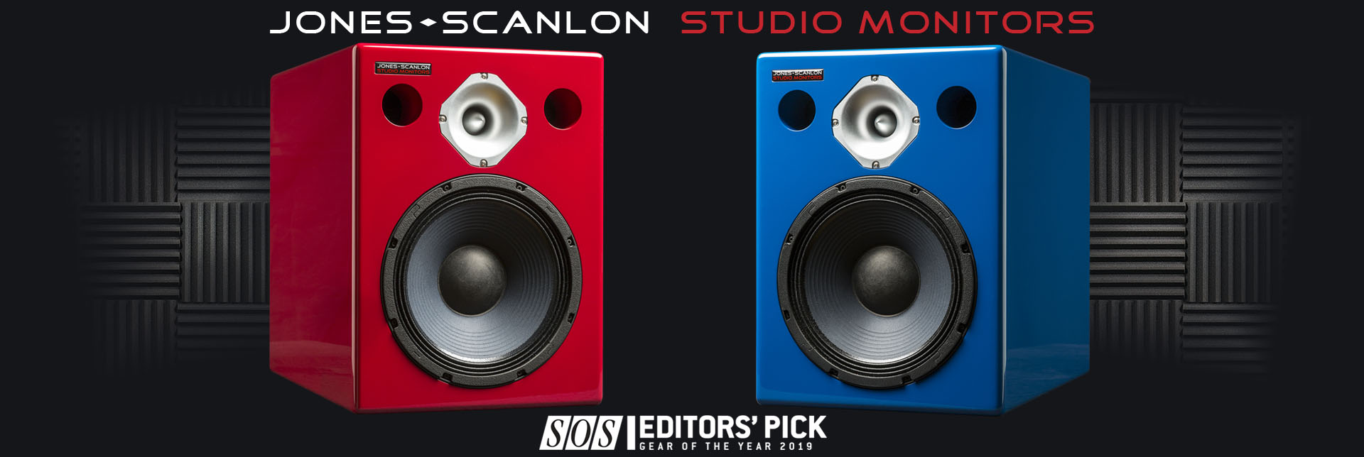 Jones-Scanlon Studio Monitors - recording engineering, audio and film post production, sound track mastering, audio mixing, sound mixing, recording studio gear.