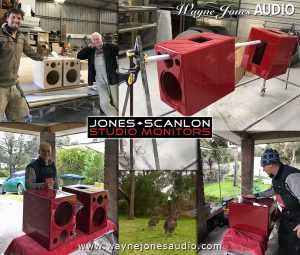 The Jones-Scanlon Studio Monitors in production