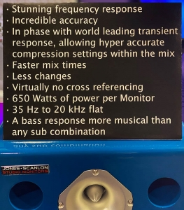Jones-Scanlon Studio Monitors - specifications & talking points