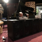 Wayne Jones setting up for product demonstration at Sing Sing Recording Studio