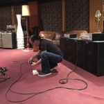 Wayne Jones preparing for product demonstration at Sing Sing Recording Studio, Melbourne, Australia