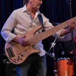 Wayne Jones with is Fodera Monarch Elite 6 string bass guitar @ Bird's Basement jazz club in Melbourne
