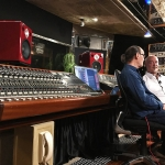 Wayne Jones and Steve Scanlon discussing the Jones-Scanlon Studio Monitors.